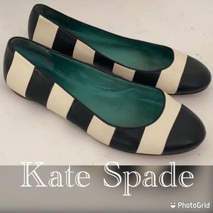 Auth Kate Spade signature leather flats sz 6.5